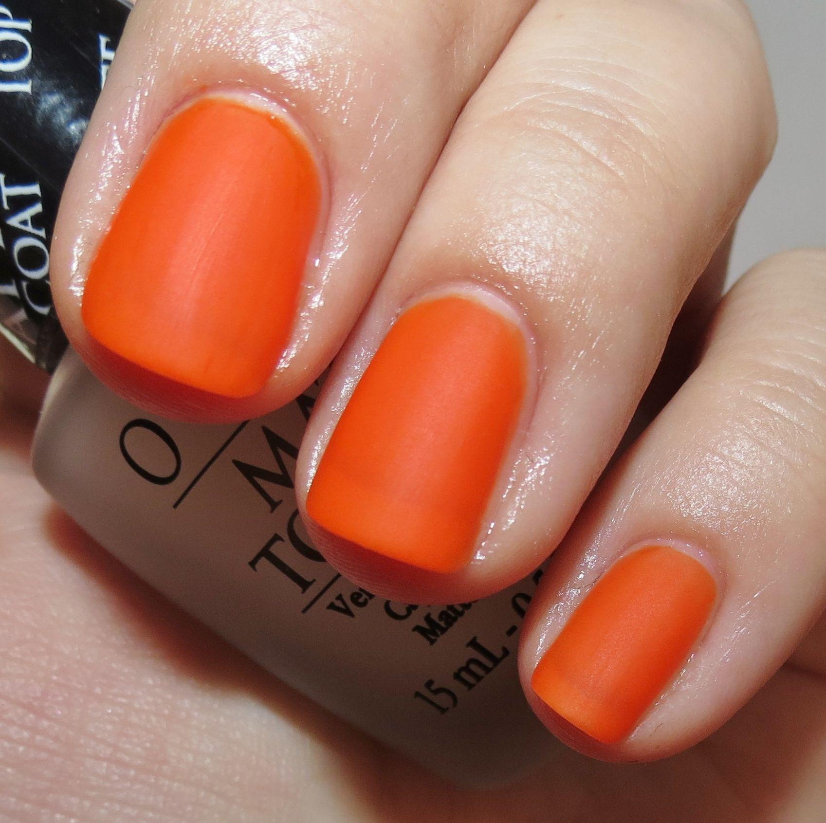 matte orange nails fm 245