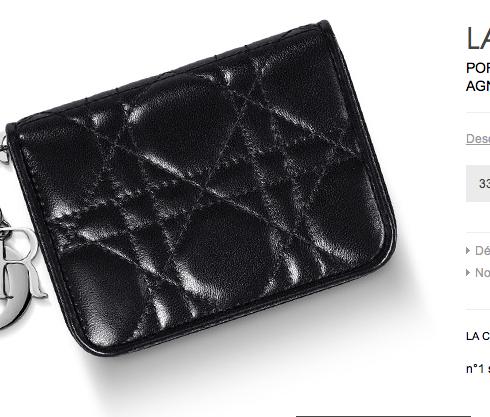 la plus récente technologie grande sélection emballage fort Porte monnaie Mini Zip Lady Dior 330€ | Maroquinerie | Porte ...