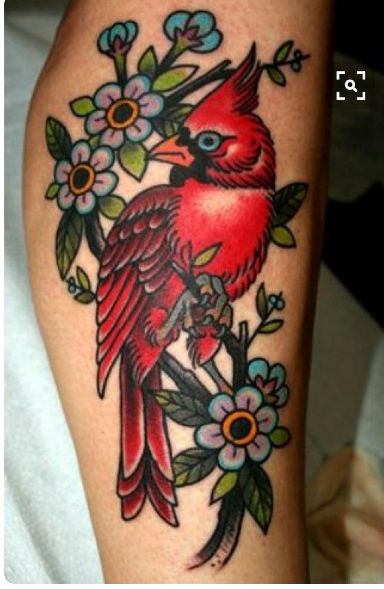 Cardinal and tree branch sick tattoo tattoos