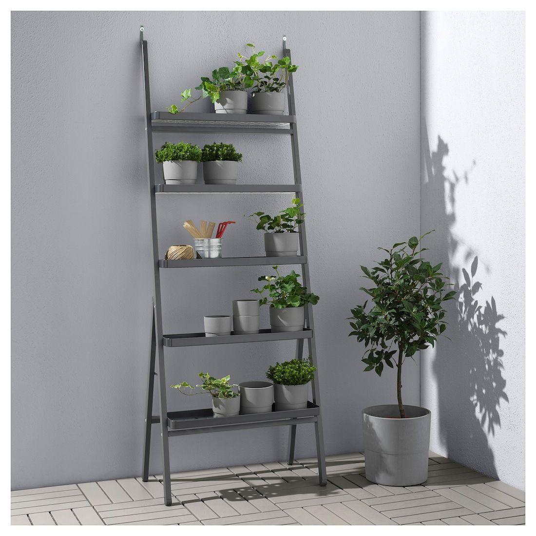 Salladskål Blumenständer Für Draußen Grau Ikea Pflanzenleiter Pflanzenwand Pflanzenständer