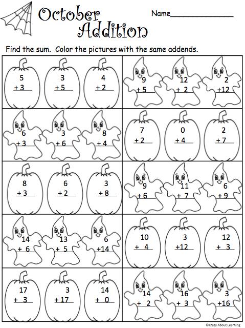Halloween Halloween Math Worksheets Halloween Math Halloween Worksheets
