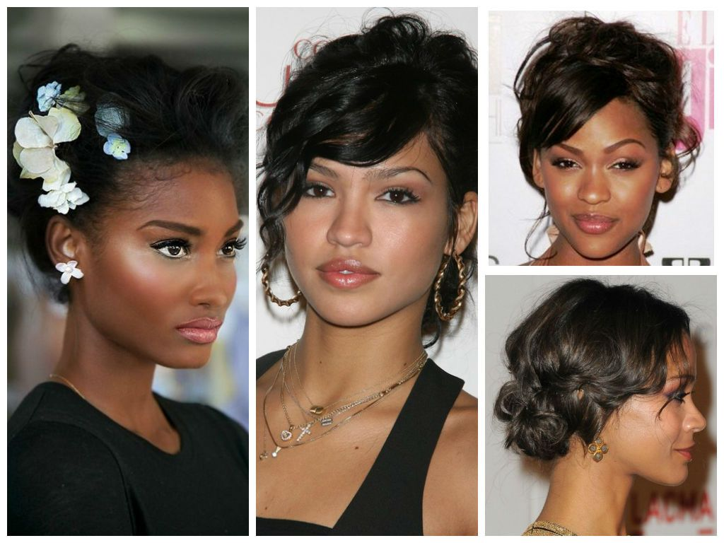 Tousled-Updo-for-Black-women