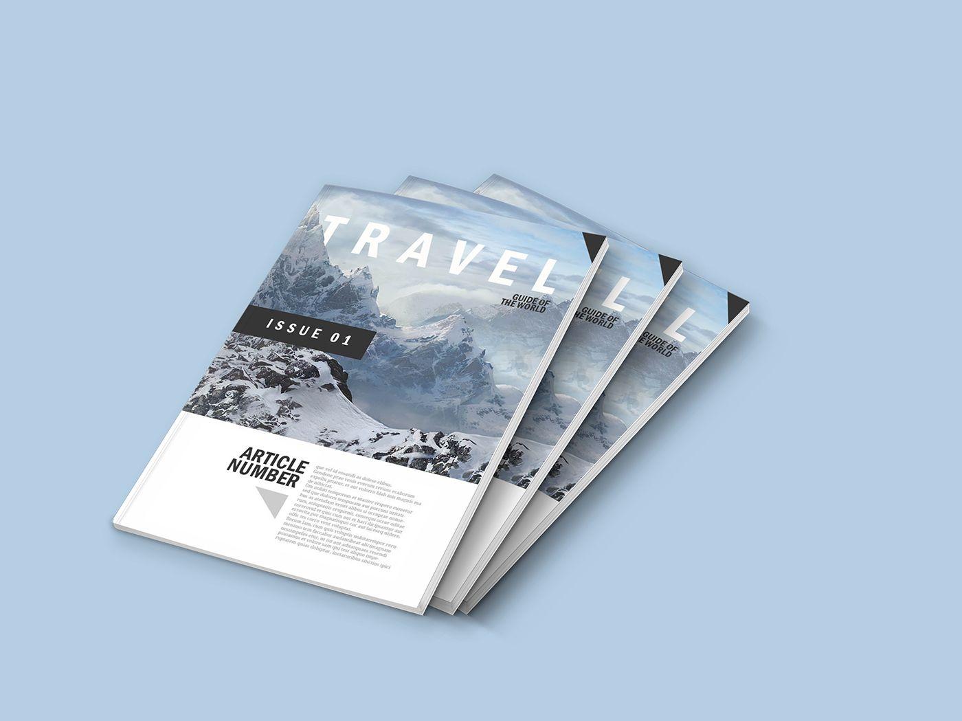Updated Magazine Mock Up Free On Behance Magazine Mockup Psd Free Graphic Design Magazine Mockup