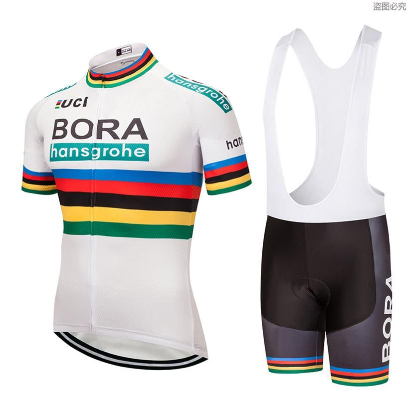 2018 White Bora Cycling jersey Bike shorts set Ropa Mens Bicycling jersey  short sleeves BICYCLING Maillot 7cfcbeec1