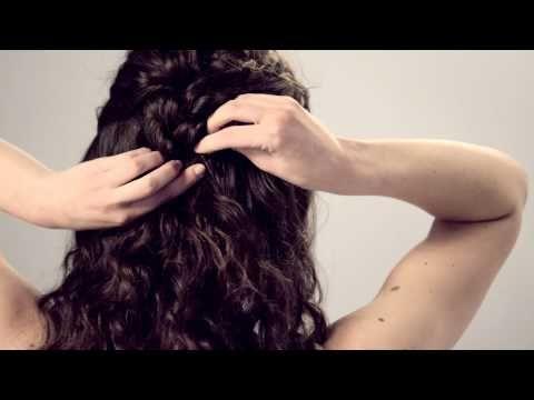 Kérastase Hair Tutorial: Curly Hair Up-do - YouTube
