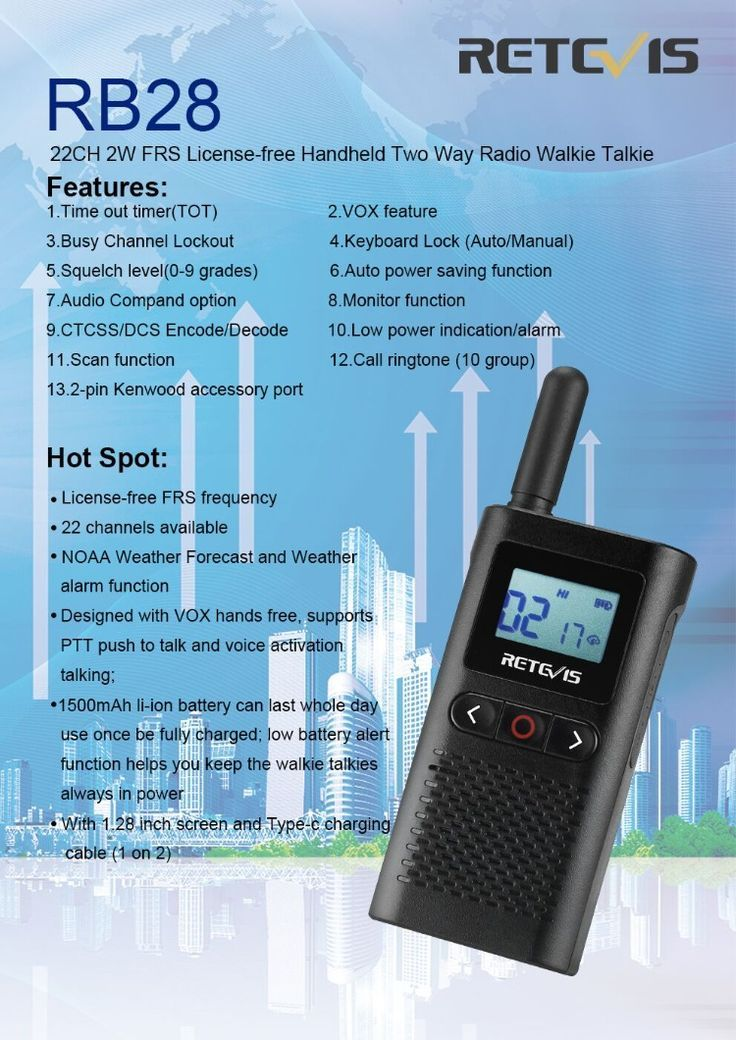 Two-Way Radios Black, 2 Pack Mini Two Way Radios with VOX ...