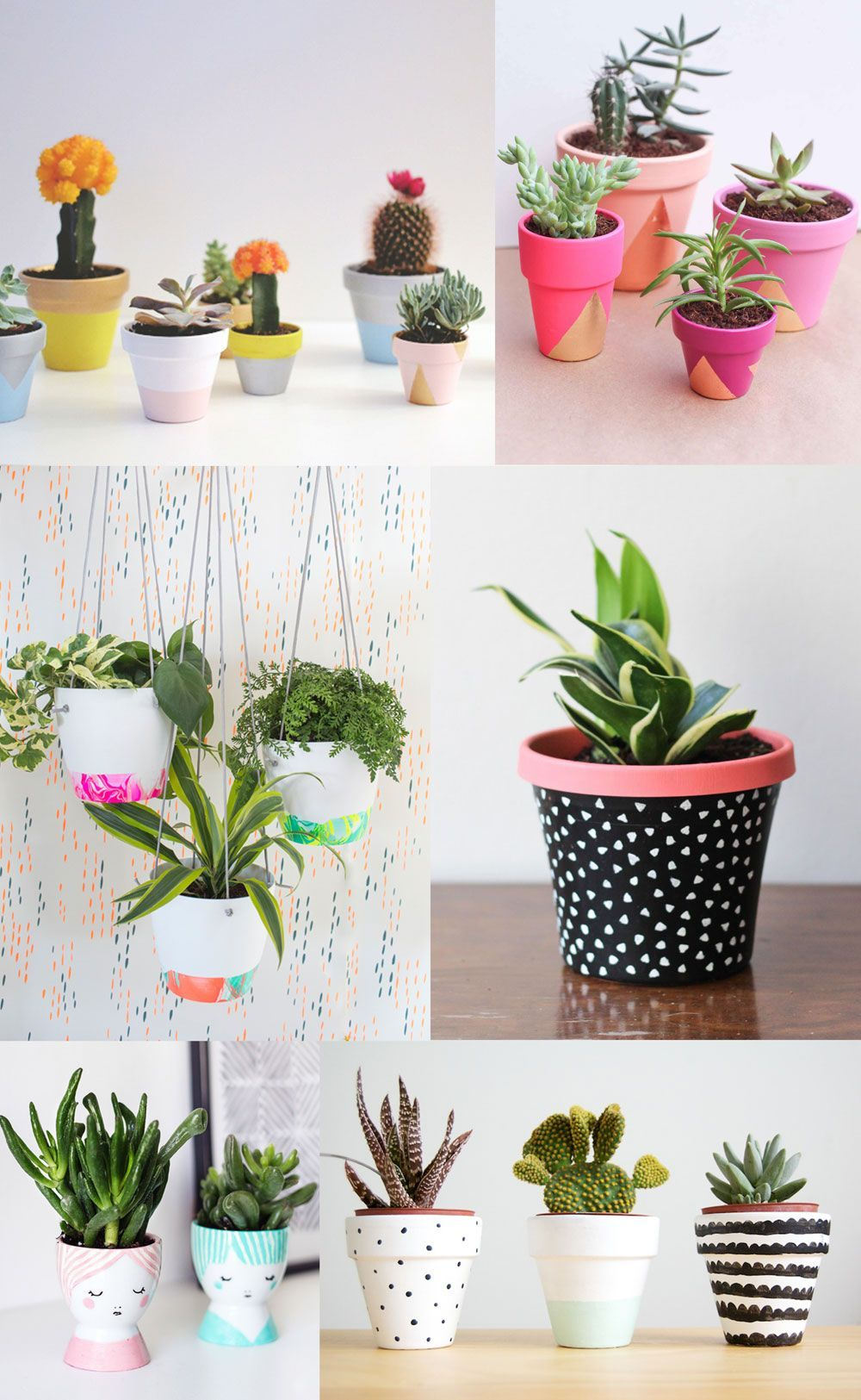 6 DIY PAINTED POT IDEAS (Tell Love and Party) Pots de