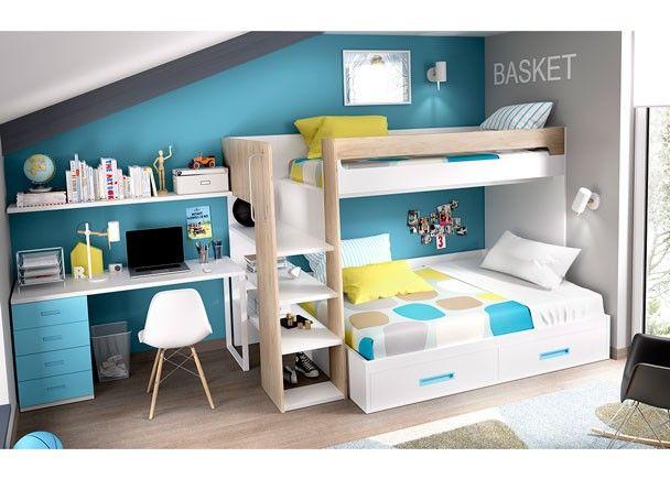 Habitaci n con litera maxi cama de 135 cm novedades de - Habitacion con litera ...