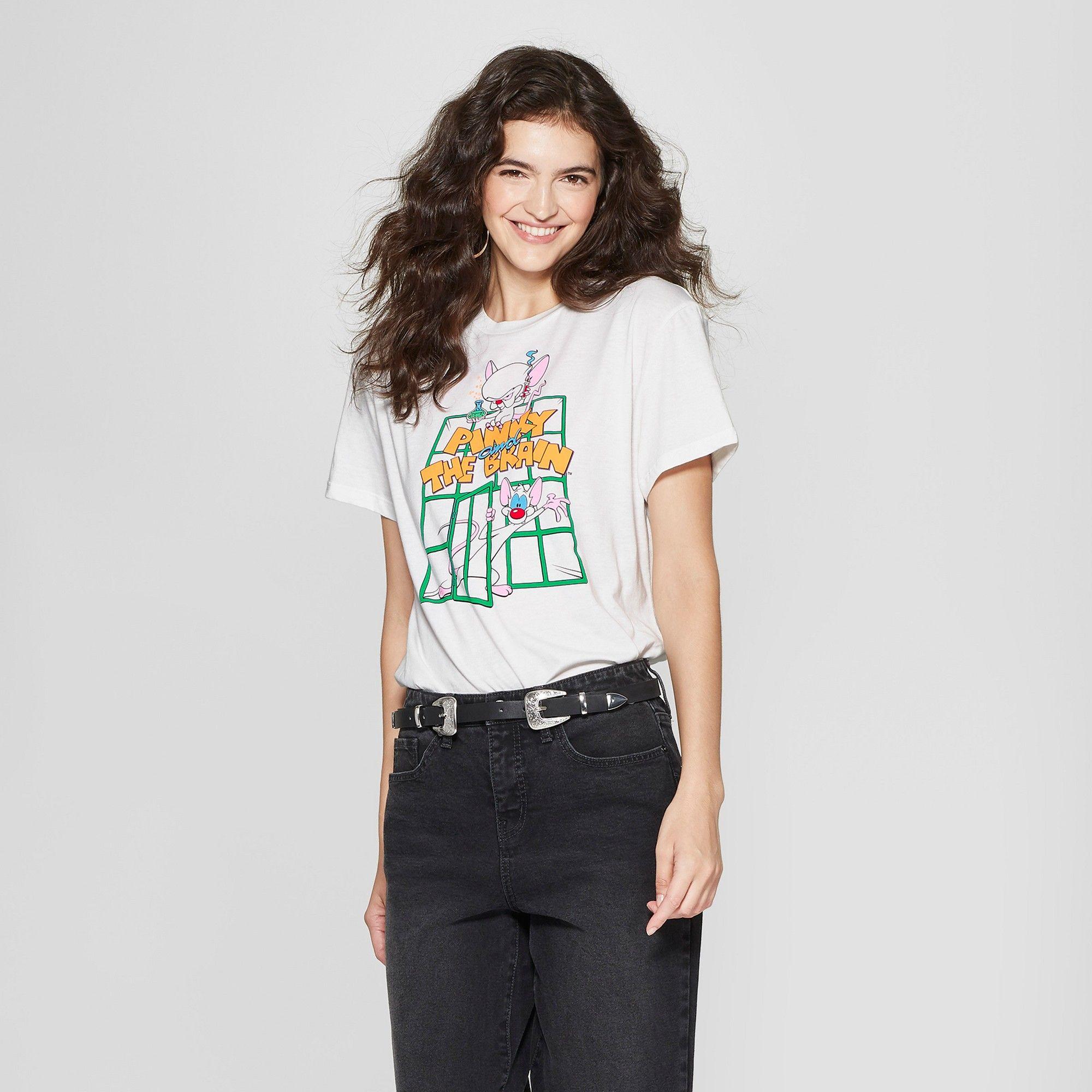 4902034a94d Women s Warner Bros. Short Sleeve Pinky   The Brain Graphic T-Shirt ...