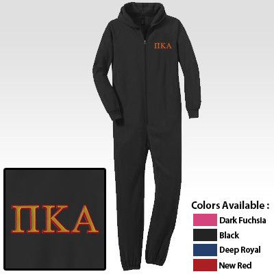8ea4230d36c Fraternity Onesie Pajamas with Embroidery