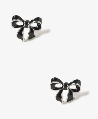 Lacquered Bow Studs   FOREVER21 - 1017305854