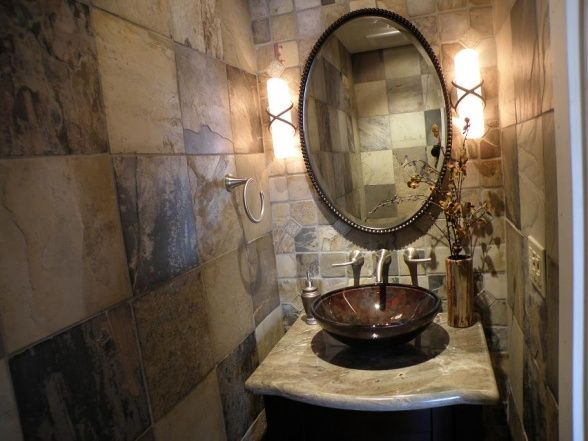 Tiny Half Bath - Bathroom Designs