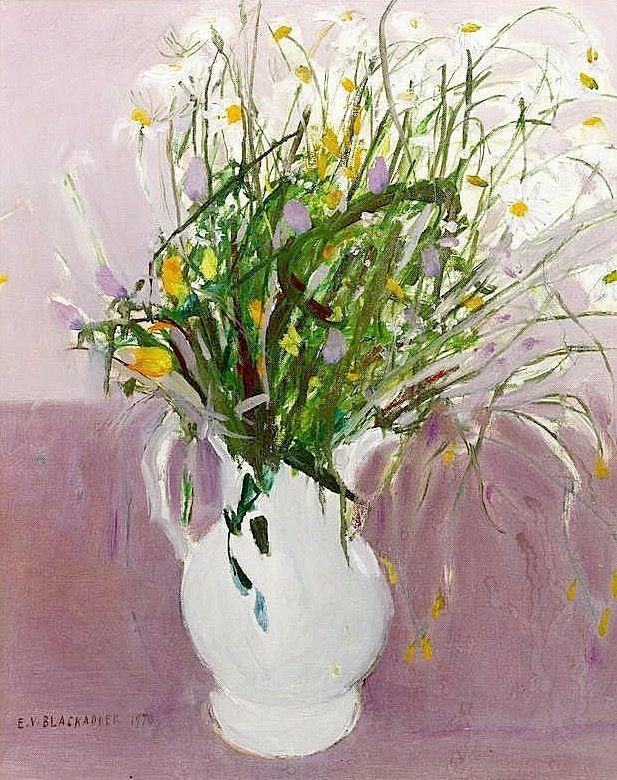 bofransson:  Dame Elizabeth Blackadder (British, born 1931) Wild Flowers - #guestpinner @HappyMakersBlog @homeandgardennl