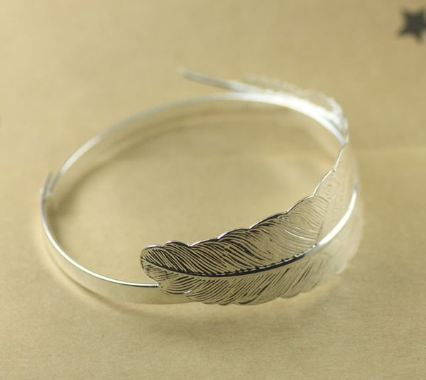 x1 Bracelet de feuilles Argenté(SJ058) : Supports Bracelets par bijoux-store