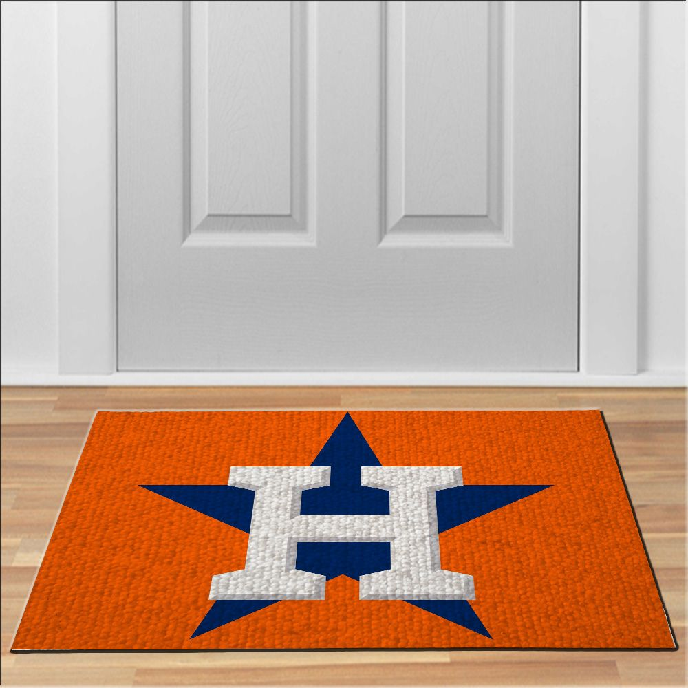 nice houston astros orange MLB Baseball Floor Durable Door