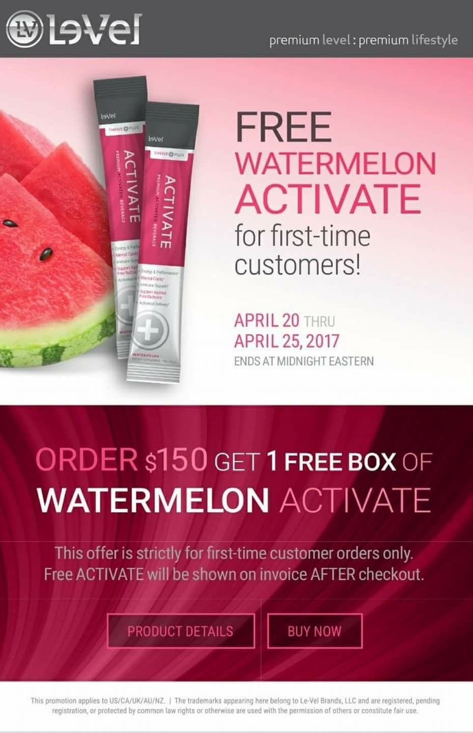 FREE watermelon activate for first time customers!!!! Perfect time to start your Thrive Experience!!!!!! #activate 🍉 #watermelon🍉 #watermelonactivate 🍉 #naturalenergydrink🍉 #energy 🍉  THRIVEenMomma.le-vel.com