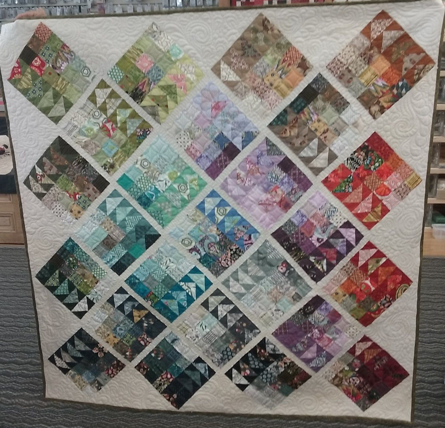 Geese Migration Quilt Kit Half Square Triangle Quilts