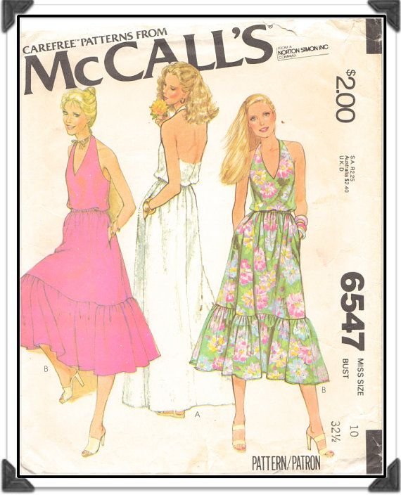 Sale Mccall S Pattern 6547 Misses V Neck Halter By Iknitisew