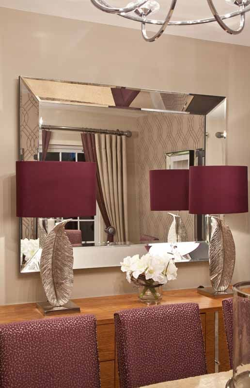 Stunning beveled mirror with aubergine table lamps glass stunning beveled mirror with aubergine table lamps mozeypictures Image collections