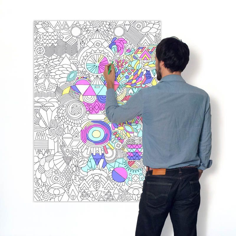 Omy Design Play Coloring Poster Color Design Patchwork
