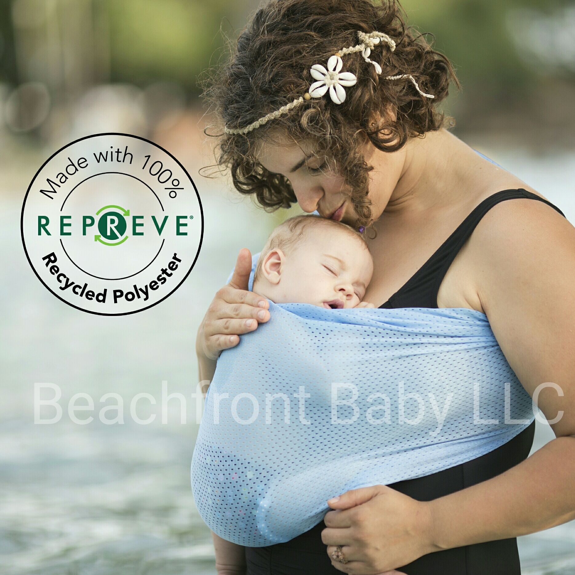 Newborn Comfort /& Toddler Perfect for Summer Breathable Quick Dry Mesh Fabric Pool Adjustable Baby Water Ring Sling and Wrap Carrier for Infant Beach /& Shower Bright Pink