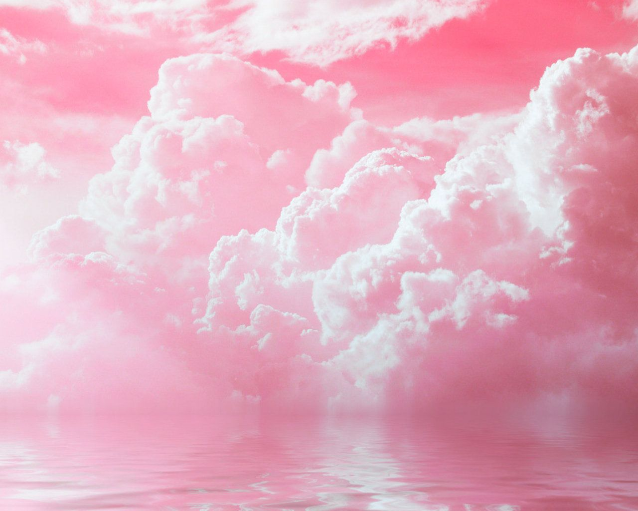Pink Sky Amazing Pink Clouds Water Sky Nature Hd Wallpaper