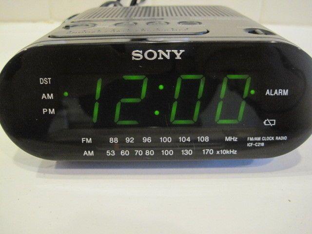 Sony Icf C218 Alarm Clock Am Fm Radio Dream Machine Auto Time Set