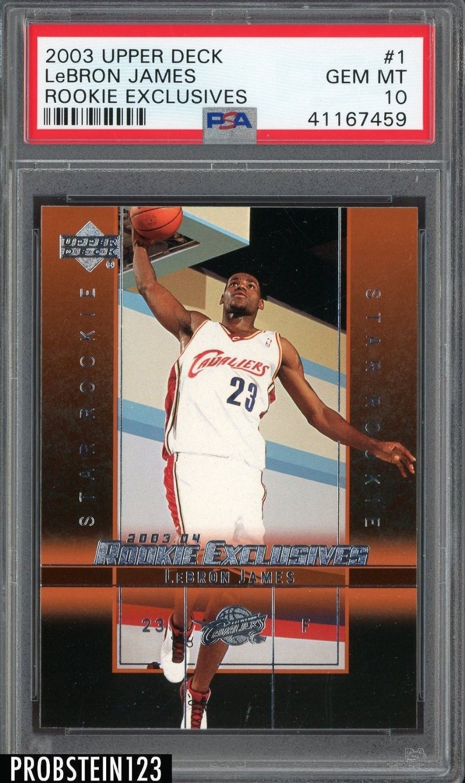 2003 upper deck basketball rookie exclusives 1 lebron