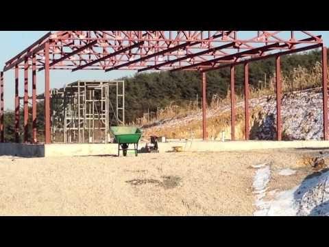 영월 경량철골조주택 신축공사 포스트베이스 시공 - YouTube