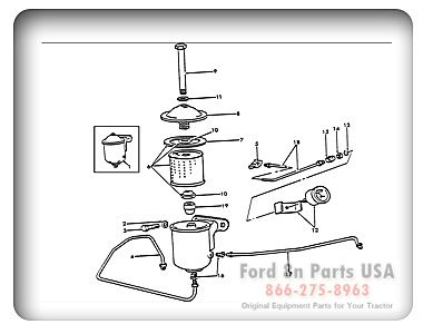 Ford 8N 06E01 Oil Filter and Oil Guage Ford Tractor