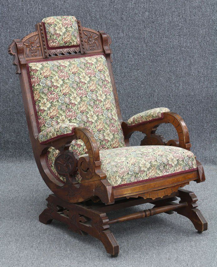 Victorian Carved Walnut Platform Rocker On In 2019