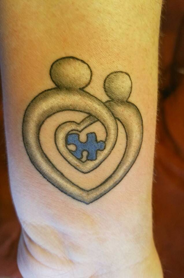 Autism Mother And Child Tattoo Tap The Link To Check Out Fidgets And