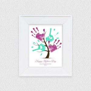 Great Mother S Day Idea Or Even For Christmas Hand Print Tree Family Tree For Kids Trees For Kids