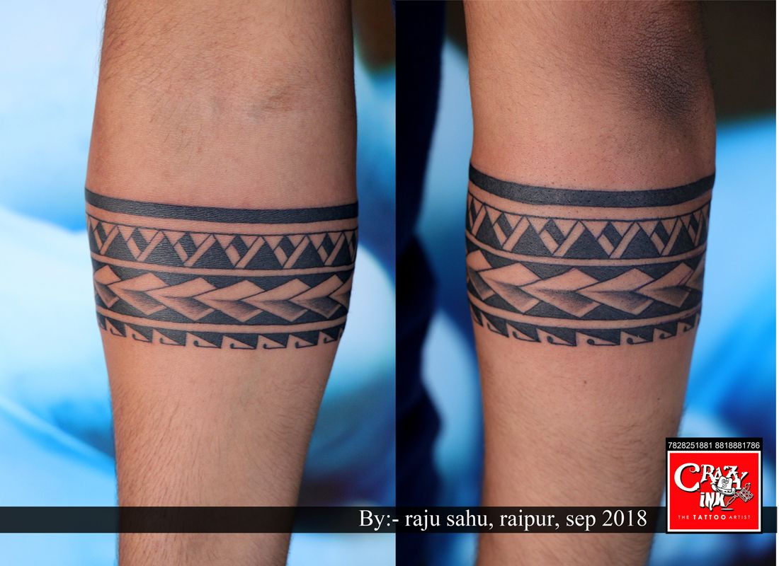 f447ee21e Maori band tattoo. Done by tattoo artist Raju sahu. At crazy ink tattoo  studio Raipur, India... #bandtattoo #maoritattoo #maoribandtattoo #band ...