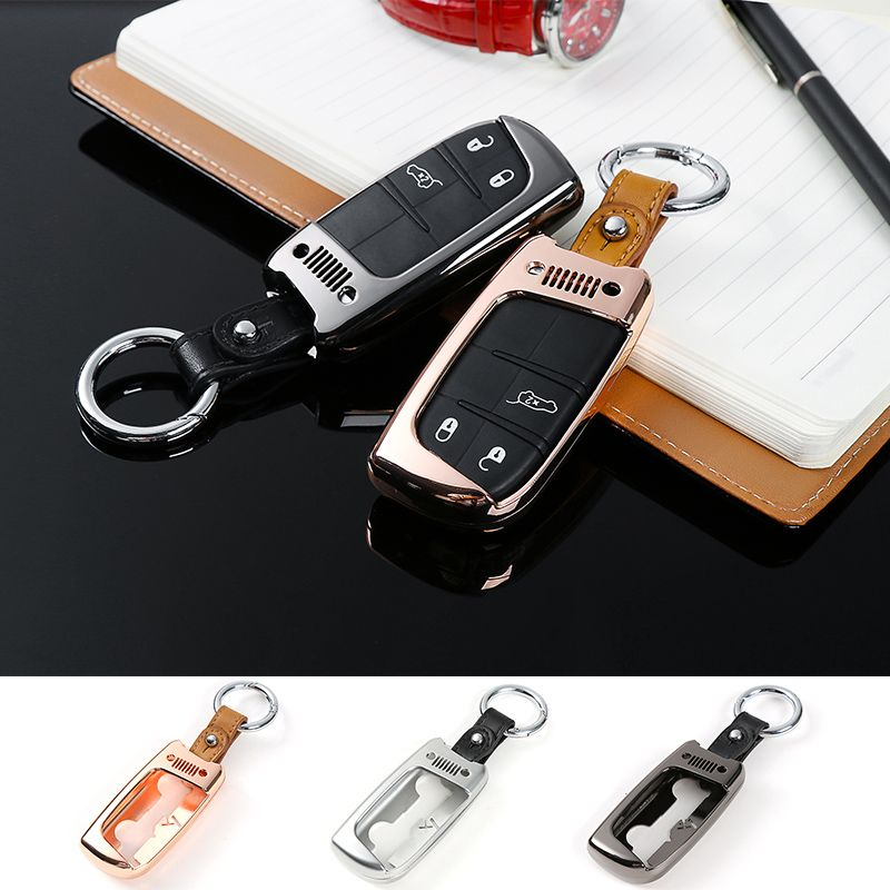 Unique Designs Black Zinc Alloy Car Key Fob Case Holder Cover Fit