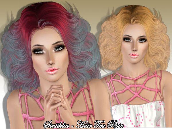SintikliaSims' Sintiklia - Hair Tea Rose
