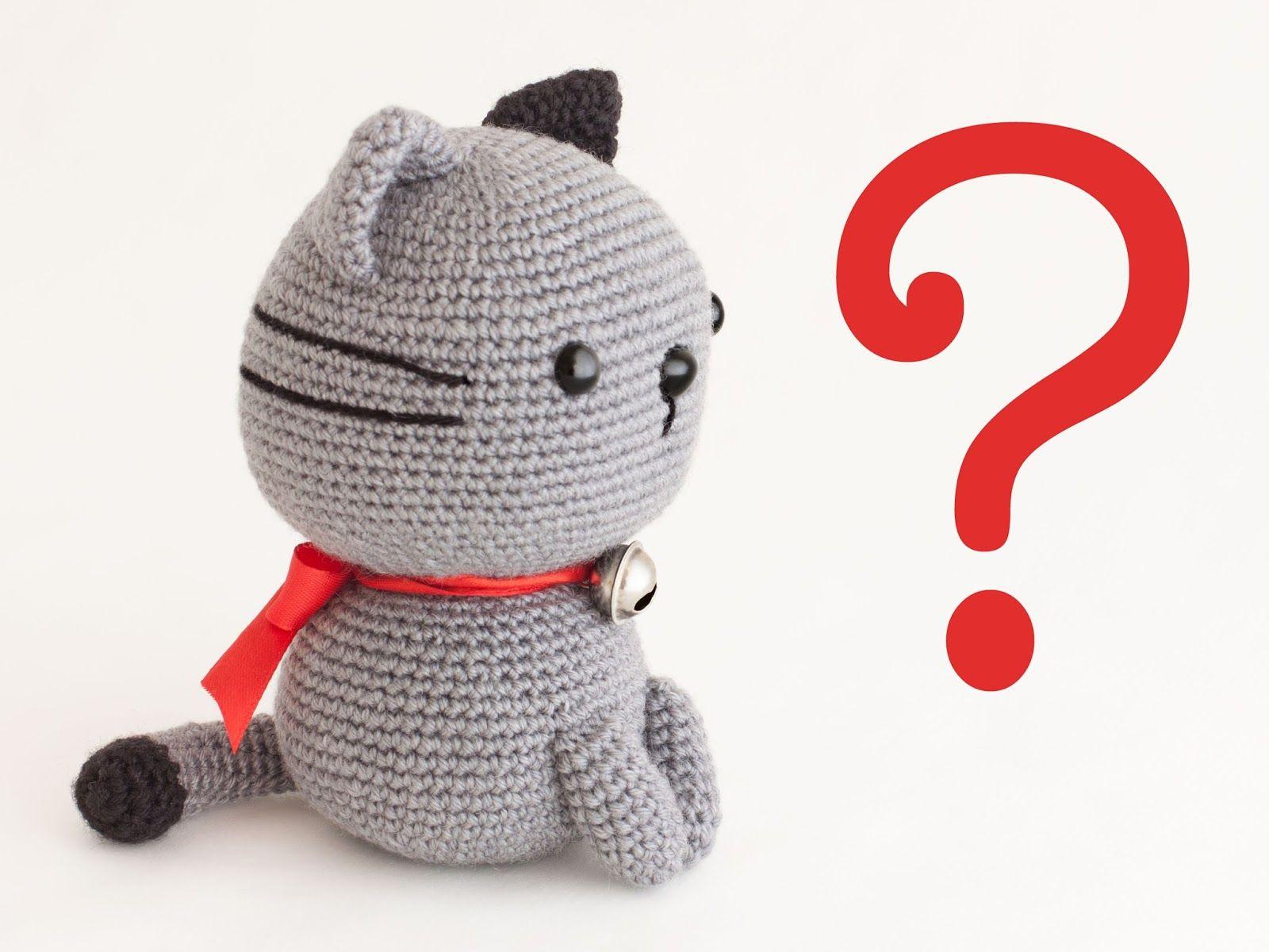 Amigurumi cat Nekori (link to pattern) ༺✿ƬⱤღ https://www ...