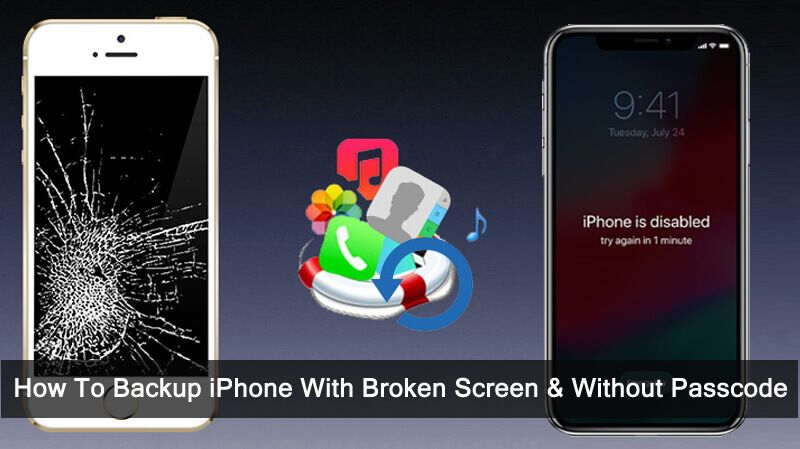 How To Backup Iphone With Broken Screen Without Passcode Broken Iphone Screen Iphone Broken Screen