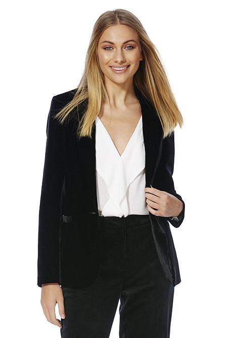 55def0234abc52 Tesco direct: F&F Velvet Jacket | Miryea | Velvet jacket, Jackets ...
