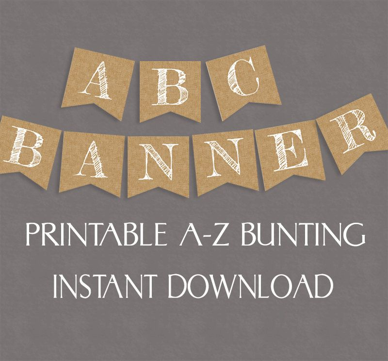 Diy Wedding Word Banners: Rustic Banner Printable, Any Phrase, DIY Banner Burlap