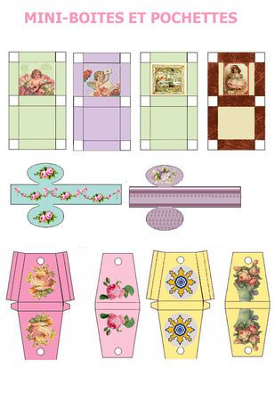 Boites diverses nicole pinterest boite bo tes et miniature - Patron de maison en papier a imprimer ...