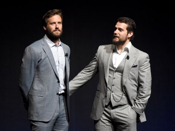 Armie Hammer And Henry Cavill Both Go For Bearded Looks At CinemaCon