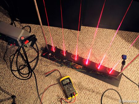Arduino Laser Harp - Microcontroller Project Circuit