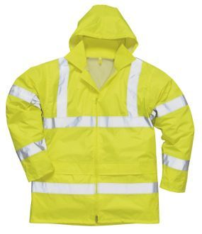 This Is A Portwest High Visibility Rain Jacket In The Colour Yellow With This You Are Guaranteed To Be Kept Lightweight Waterproof Jacket Jackets Rain Jacket