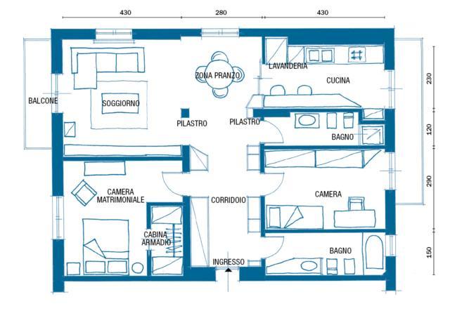 Nuovo Layout In 95 Mq La Casa Di Famiglia Ristrutturata Cose Di Casa Planimetrie Dell Appartamento Planimetrie Di Case Planimetrie