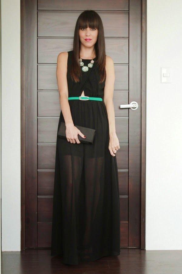 Vestido negro en el dia