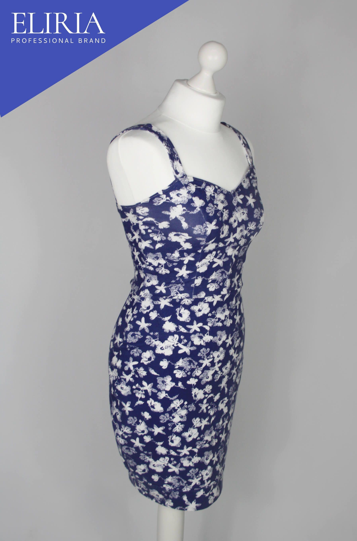 Navy Flowery Corset Dress Granatowa Kwiecista Sukienka Gorsetowa Dresses Corset Dress Sleeveless Formal Dress