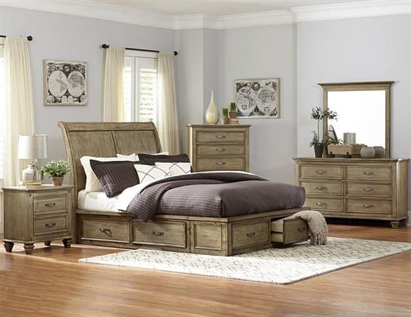 Inspirational Sylvania Transitional Driftwood Sleigh Master Bedroom Set In 2018 - Lovely driftwood bedroom furniture Contemporary