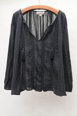4477253c9cf8 Black Bohemian Blouse
