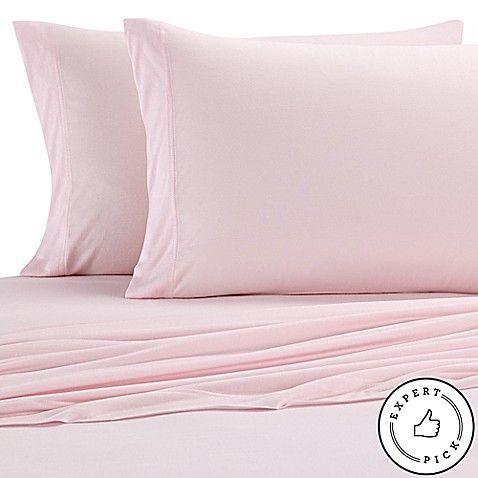 Pure Beech Jersey Knit Modal Twin Xl Sheet Set In Light Pink In